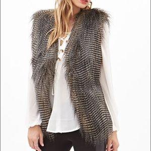 Gorgeous Faux Feather Vest